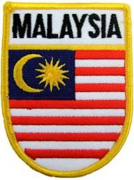 MALAYSIA SHIELD FLAG PATCH (SB)