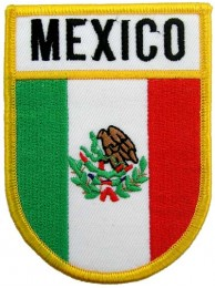 MEXICO SHIELD FLAG PATCH (SB)