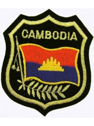 Cambodia 1979's Shield Flag Embroidered Patch