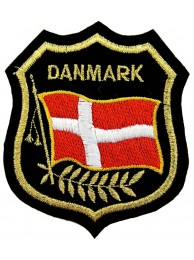 Denmark Shield Flag Patch