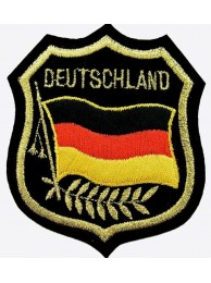 Deutschland Germany  Embroidered Shield Flag Patch
