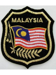 Malaysia National Shield Flag Embroidered Patch