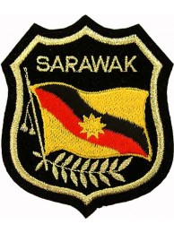 Malaysia State  Sarawak Shield Flag Patch