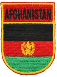AFGHANISTAN SHIELD FLAG EMBROIDERED PATCH