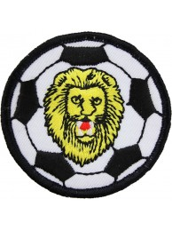 FOOTBALL + LION EMBLEM SOCCER PATCH