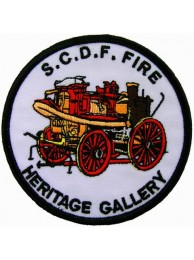 SINGAPORE S.C.D.F. FIRE ENGINE FIREMAN PATCH