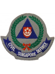 SINGAPORE FIRE SERIVCE CIVIL DEFENCE PATCH