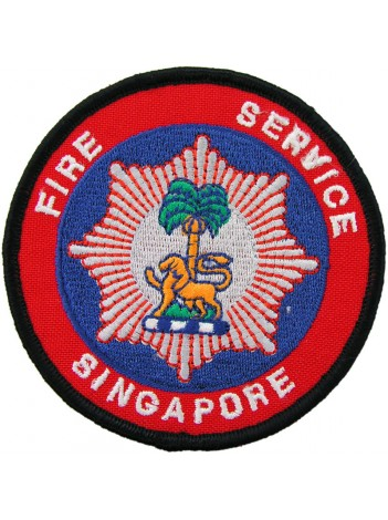 SINGAPORE FIRE SERIVCE FIRE FIGTHER PATCH #09