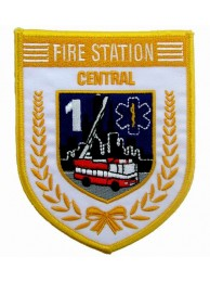 SINGAPORE FIREMAN TROOP CENTRAL PATCH