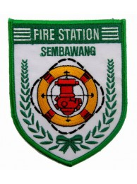 SINGAPORE FIREMAN TROOP SEMBAWANG PATCH