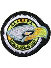 SEAHAWK FISHING IRON ON EMBROIDERED PATCH