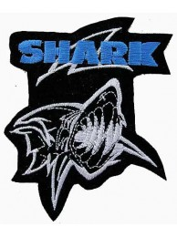 Shark Fishing Sports Embroidered Patch #01