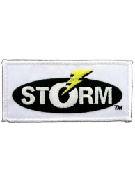 STORM FISHING IRON ON EMBROIDERED PATCH