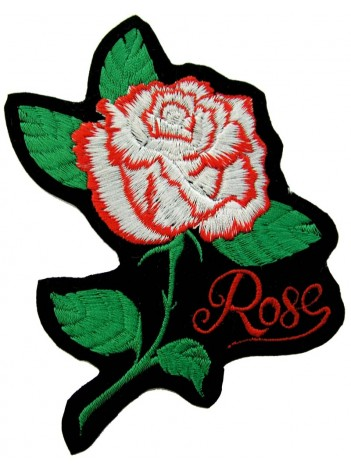 ROSE FLOWER BIKER TATTO PATCH