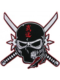 GIANT BUDO NINJA IRON ON EMBOIDERED PATCH (P)