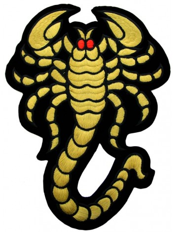 GIANT SCORPION KING BIKER EMBOIDERED PATCH #02