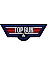 GIANT US NAVY TOP GUN EMBROIDERED PATCH (P2)