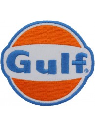 GULF OIL & GAS RACING NASCAR EMBROIDERED PATCH #01