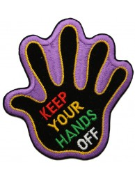 KEEP YOUR HAND OFF SIGN SKATE BOARD PATCH #03