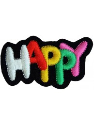 HAPPY PUNK & ROCK EMBROIDERD PATCH #01