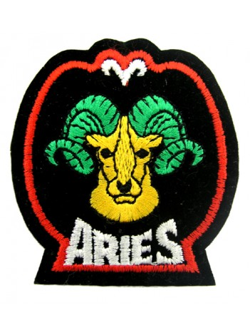 HOROSCOPE EMBROIDERED PATCH - ARIES