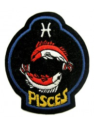 HOROSCOPE EMBROIDERED PATCH - PISCES