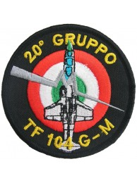ITALY AIRFORCE F104 STARFIGHTER 20 GRUPPO PATCH