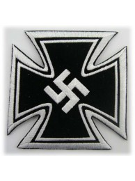 WWII NAZI PARTY ADOLLF HITLE IRON CROSS PATCH #01