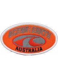 OCEAN EARTH AUSTRALIA SURFING SKATE BOARD PATCH