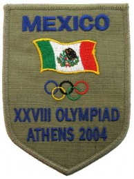 2004 ATHENS OLYMPIC - MEXICO EMBROIDERED PATCH