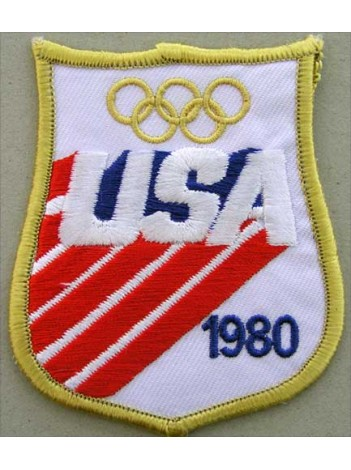 1980 OLYMPIC GAMES - USA EMBROIDERED PATCH