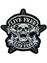 Skull Biker Ride Free Embroidered Patch #04