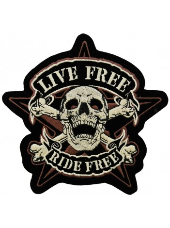 Skull Biker Ride Free Embroidered Patch #04-A2