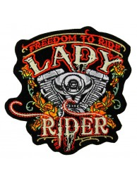 Lady Rider Biker Embroidered Patch #05-A1