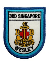 RSN SINGAPORE NAVY 3RD WESLEY PATCH