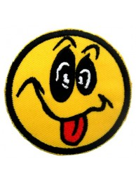 SMILEY FACE PUNK & ROCK PATCH
