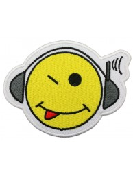 SMILEY FACE PUNK & ROCK PATCH #03