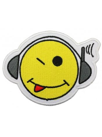 SMILEY FACE PUNK & ROCK PATCH #03