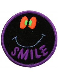 SMILEY FACE PUNK & ROCK PATCH #04