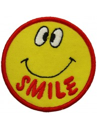 SMILEY FACE PUNK & ROCK PATCH #05