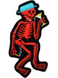 SMOKE DRUNK SKULL PUNK & ROCK PATCH #01