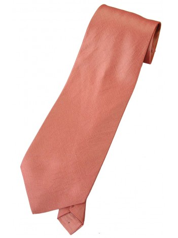 THAI SILK DARK SALMON COLOR TIE NECKTIE