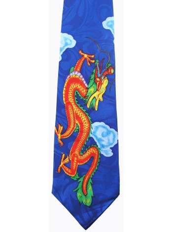 ORIENTAL DRAGON TIE NOVELTY NECKTIE #09