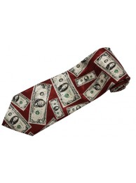 USA MONEY US DOLLARS TIE NOVELTLY NECKTIE #02