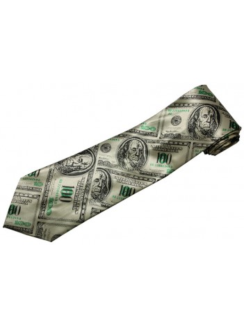 USA MONEY US DOLLARS TIE NOVELTLY NECKTIE #04