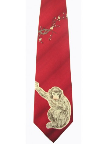 MONKEY ANIMAL TIE NOVELTY NECKTIE #02