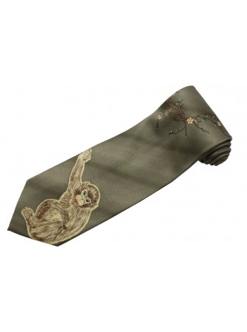 MONKEY ANIMAL TIE NOVELTY NECKTIE #04