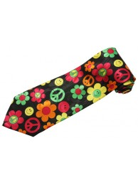 SMILEY HAPPY FACE PEACE TIE NOVELTY NECKTIE #02