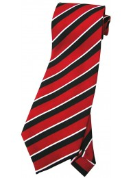 STRIPES TIE RED/WHT/BLACK NOVELTY NECKTIE #04