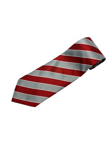 STRIPES TIE RED & SILVER NOVELTY NECKTIE #17
